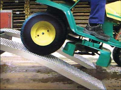 Aluminium oprijplaten recht en gebogen