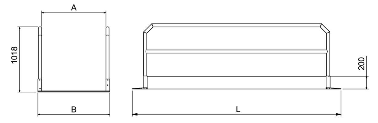Doosnede Metalmec aluminium loopbrug rijbrug